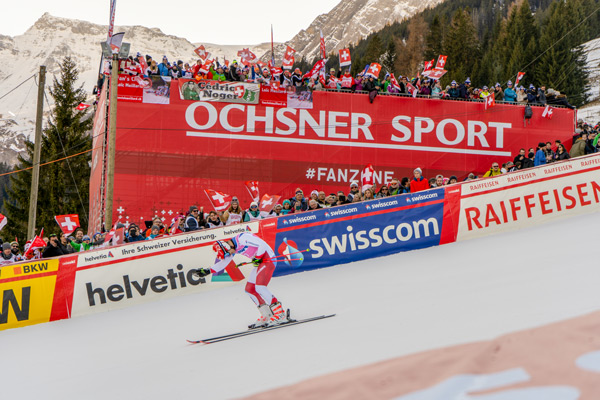 The Swiss bows to the audience at the World Cup in Adelboden